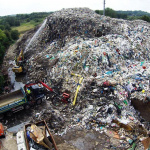 40ft High Rubbish Mountain, Tackled By Waste Management Company!!